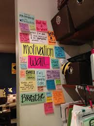 20 Ways To Use Sticky Notes Motivation Wall Dorm Life