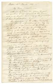 care of letter autograph letter signed from john james audubon to his son victor