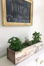 diy wooden herb planter box kojodesigns