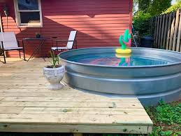 If you like the round above ground pools, this one by intex is a great option. Pricing Guide How Much Does An Above Ground Pool Cost Lawnstarter