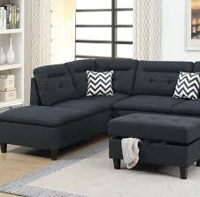 black sectional sofa couch f6588 hot