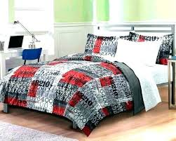 red and grey bedding numbers bed quilts patterns galore quilt s in teen boy twin or red gray and black bedding comforter sets