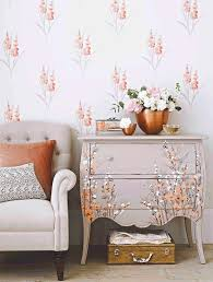 how to wallpaper furniture. such a pretty upcycle chest of drawers painted to match wallpaper how furniture