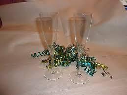 vintage baccarat crystal fluted champagne glasses