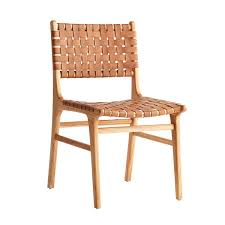 Woven Leather Dining Chair  Wisteria