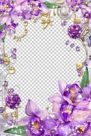 Paper With Flower Border Paper Flower Purple Frame Png Clipart Border Frames