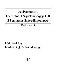 Sternberg Intelligence Advances In The Psychology Of Human Intelligence