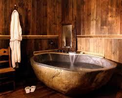 rustic bathroom. ad-ideas-that-will-add-coziness-and-warmth- rustic bathroom