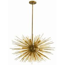 arteriors zanadoo 12l chandelier vintage brass