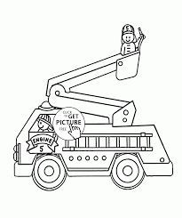 Fire Engine Truck Coloring Page For