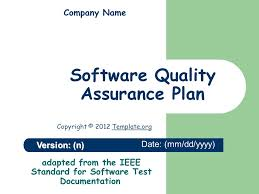 Quality Assurance Plan Example Software Quality Assurance Plan Ppt Video Online Download