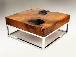 arhaus petrified wood coffee table