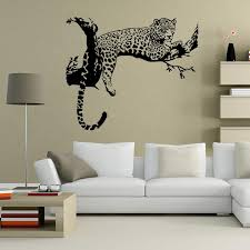 new tiger leopard waterproof wall stickers creative diy personality living room bedroom decoration removable poster wallpaper nursery wall sticker nursery
