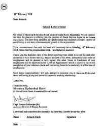 Letter Of Intent 9 Iihm Kolkata