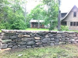 how to build a retaining wall freestanding stone in northern sandstone fieldstone block construction