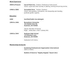 Resume Sample College Resume High School Senior Best Inspiration