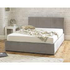 Stirling Ottoman 6ft Super King Size Stone Fabric Bed super king size stone fabric bed | sale