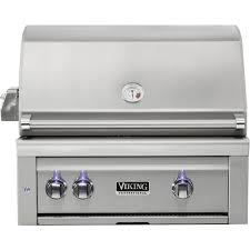 viking professional 5 series 29 built in gas grill stainless steel