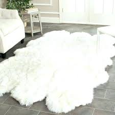 fake animal rug faux black cowhide white high pile hide intended for plan 8