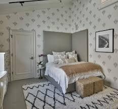 Sloped Ceiling Bedroom Corner Headboard Bedroom Transitional With Sloped Ceiling