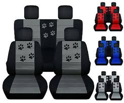 cc front and rear car seat covers paw