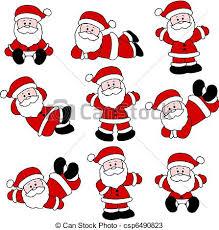 cute santa claus drawing. Fine Drawing 9 Festive Cute Santa Set For Christ  Csp6490823 Throughout Claus Drawing A