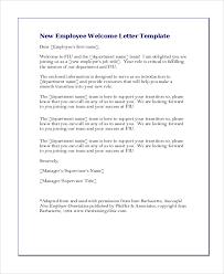 New Employee Wel e Greeting Letter