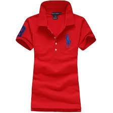 ralph lauren big pony polo shirt in red