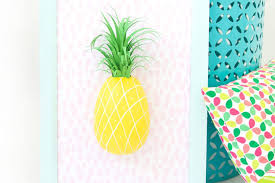diy paper mache pineapple wall art