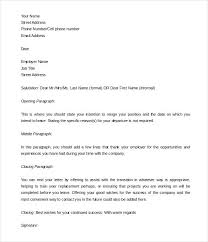 Letter Resignation 2 Weeks Notice Template Free Editable Two Of