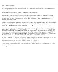 Pastor Appreciation Letter Template Meetstan Co