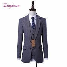 Linyixun custom Made Slim Fit <b>White</b> Male <b>Blazer</b> Black Lapel <b>Men's</b> ...