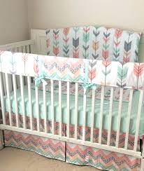 c nursery bedding c baby bedding peach pint and gray arrows crib a personal favorite from c nursery bedding