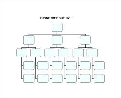 Phone Tree Template Impressive Tree Report Template Phone Printable Phone Tree Template Free Word