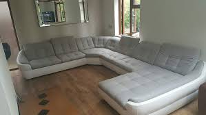 Bmf Infinity Xl White Grey 6 Seater Extra Large Faux