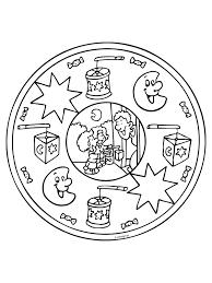 Kleurplaten Sint Mandala