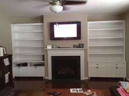 custom made wall unit with fireplace mantel