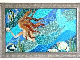 mosaic wall art sea glass projects diy tile