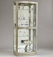 platinum curio cabinet with glass shelves for inspiring home furniture ideas
