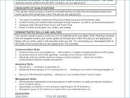 Strong Verbs For Resume From Good Skills For Resumes Free Resume