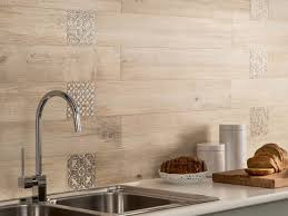 Kitchen Tiled Splashback Modern Ceramic Tiles With Wood Look Offer Practical And Warm