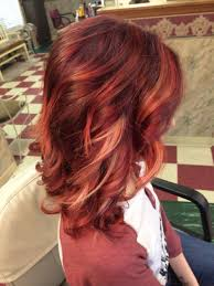 Violet Bright Red Ombré With Blonde