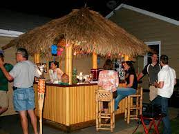 how to build a tiki bar with a thatched