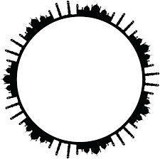 black frame png. Beautiful Png Free Clipart Of A Round Frame Mosques In Black And White To Png