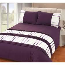 just contempo modern striped duvet cover set double purple co uk kitchen home