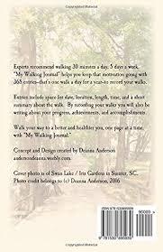 walking journal my walking journal deanna anderson 9781530895939 amazon com books