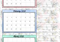 Calendar Quarters 2019 Calendar Quarters With 2018 Year Printable Coloring Page For