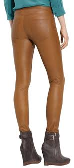 kenna t brown leather jeans leggings tan leather pants