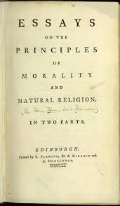 essays on the principles of morality and natural religion