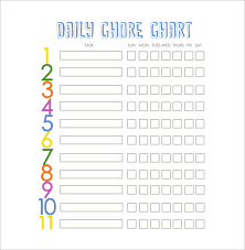 Family Chore Chart Template 14 Free Sample Example